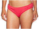 MICHAEL Michael Kors Solids Side Shirred Bikini Bottom