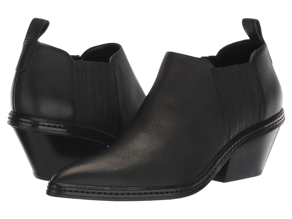 Via Spiga Farly (Black Weather Resistant Leather) Women's Shoes