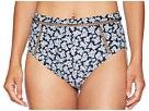 MICHAEL Michael Kors High-Waisted Bikini Bottoms w/ Ladder Insert