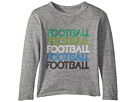 Chaser Kids Soft Tri-Blend Football Long Sleeve Crew Neck Tee (Toddler/Little Kids)