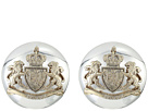 LAUREN Ralph Lauren Crest Clip Button Earrings