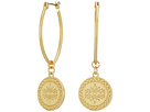 Rebecca Minkoff Etched Coin Hoops Earrings
