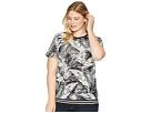 LAUREN Ralph Lauren Plus Size Tropical-Print Linen-Blend Top