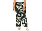 LAUREN Ralph Lauren Plus Size Tropical-Print Wide-Leg Pants