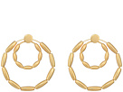 Rebecca Minkoff Sadie Front Facing Double Hoops Earrings