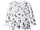Chaser Kids Super Soft Vintage Jersey Butterfly Peplum Tee (Toddler/Little Kids)