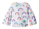 Chaser Kids Super Soft Vintage Jersey Rainbow Flared Sleeve Tee (Little Kids/Big Kids)