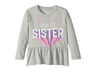 Chaser Kids Super Soft Vintage Jersey Best Little Sister Peplum Tee (Toddler/Little Kids)