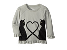 Chaser Kids Vintage Jersey Velvet Cats Peplum Tee (Toddler/Little Kids)