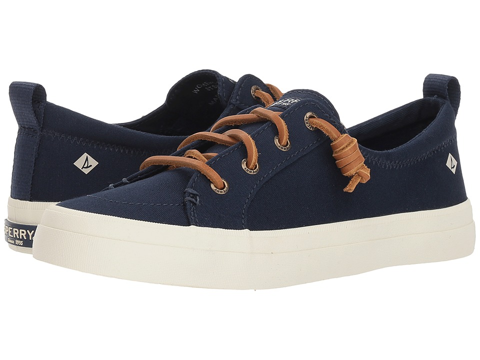 Sperry Crest Vibe Canvas (Navy) Women's Shoes