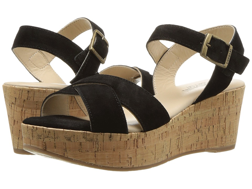Cordani Candy (Black Suede) Wedges