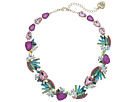 Betsey Johnson Betsey Johnson Colorful Stone and Cat Cluster Collar Necklace