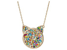 Betsey Johnson Betsey Johnson Multi-Stone Pave Cat Pendant Necklace