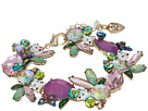 Betsey Johnson Betsey Johnson Colorful Stone and Cat Cluster Collar Bracelet