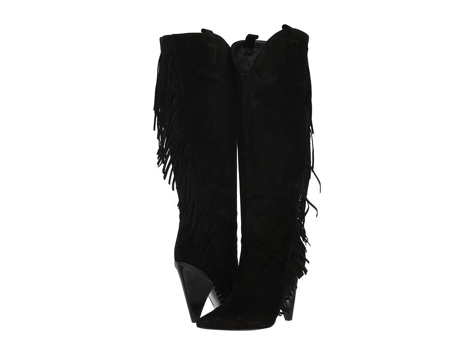 Sigerson Morrison Janey (Black Suede) Women's Shoes