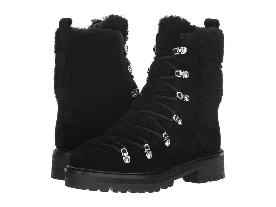 Sigerson Morrison Isla (Black Suede/Shearling) Women's Shoes