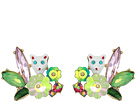 Betsey Johnson Cat Stone Cluster Stud Earrings