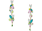 Betsey Johnson Betsey Johnson Colorful Stone and Cat Cluster Linear Earrings