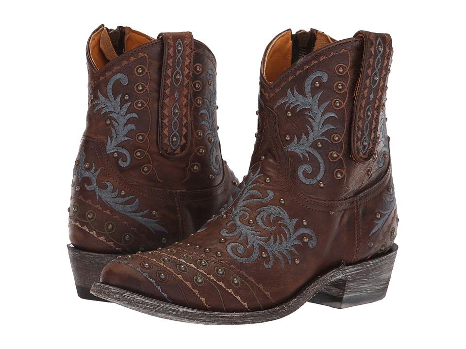 Old Gringo Zarape Patch Zip (Goat/Brass) Women's Cowboy Boots