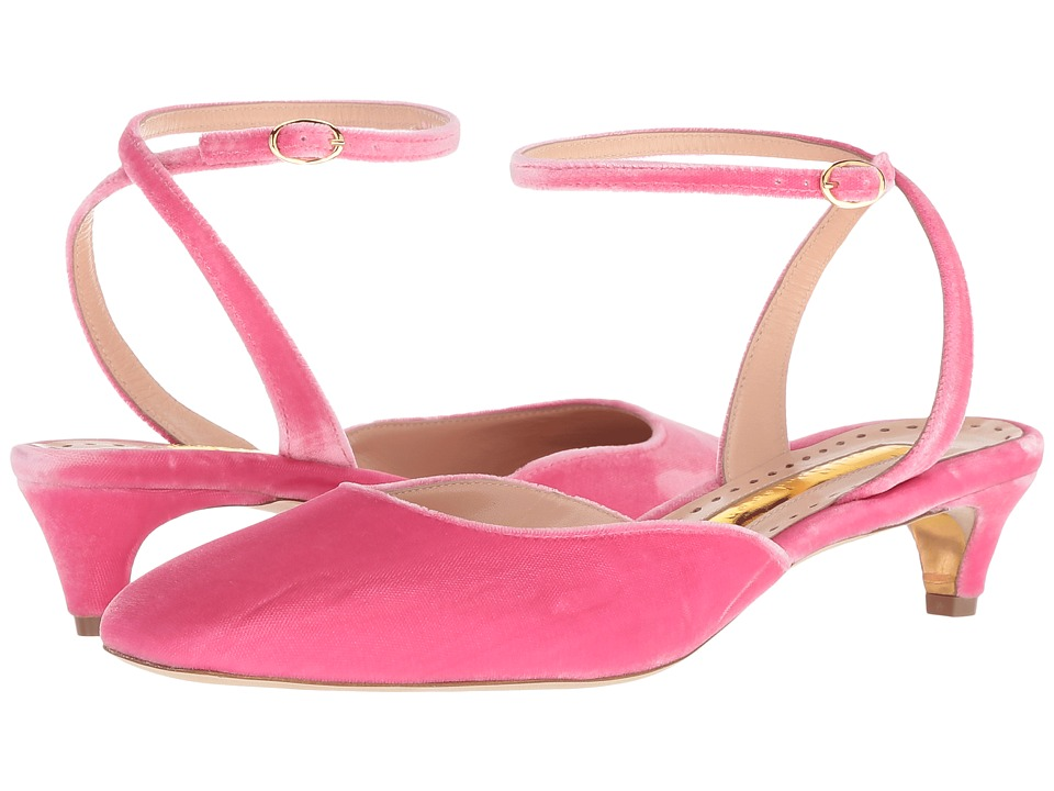 Rupert Sanderson Cornelia (Rose Quartz Velvet) 1-2 inch heel Shoes
