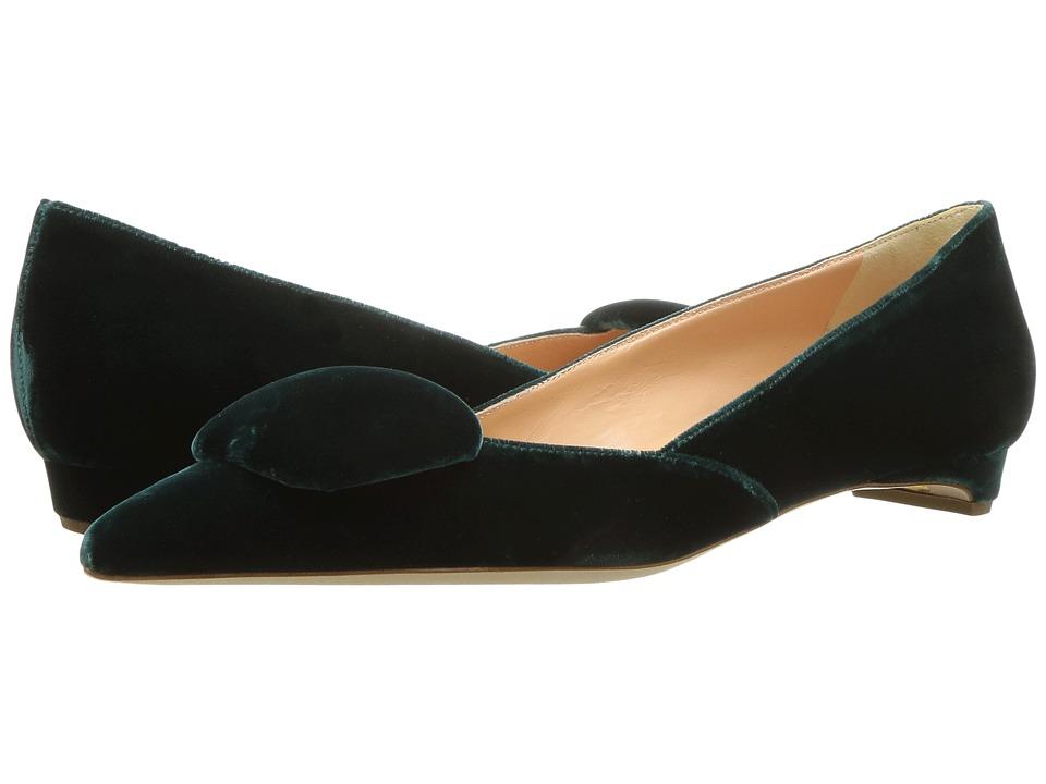 Rupert Sanderson New Aga (Jupiter Evergreen Velvet) Slip-On Shoes