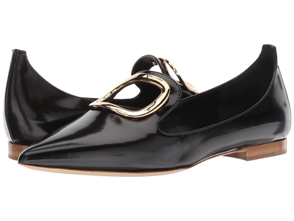 Rupert Sanderson Vision (Black Polished Leather) Slip-On Shoes