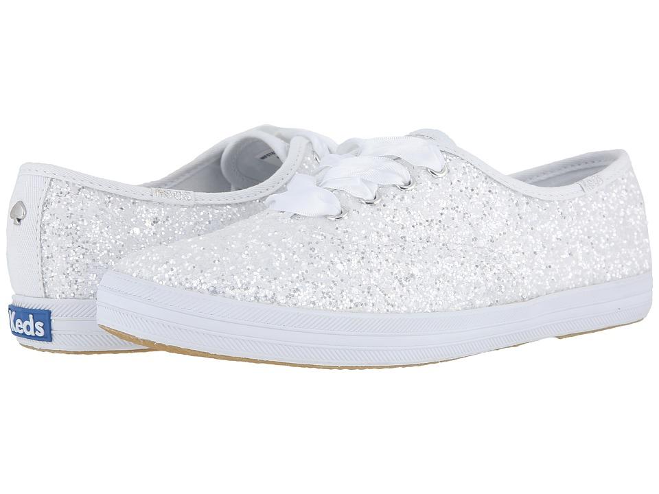 Keds x kate spade new york Bridal Champion Glitter (White Glitter) Women's Shoes