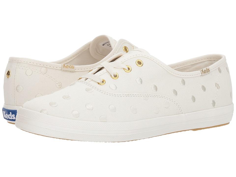 Keds x kate spade new york Bridal Champion Dancing Dot (Pristine Canvas) Women's Shoes