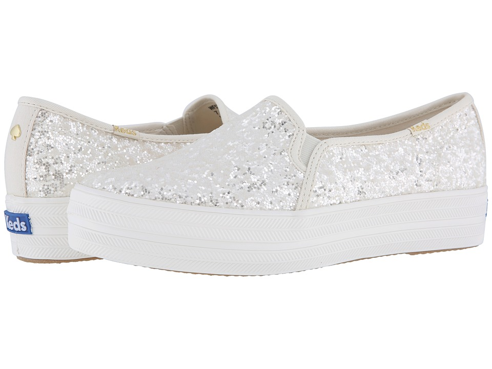 Keds x kate spade new york Bridal Triple Decker Glitter (Cream Glitter) Women's Shoes