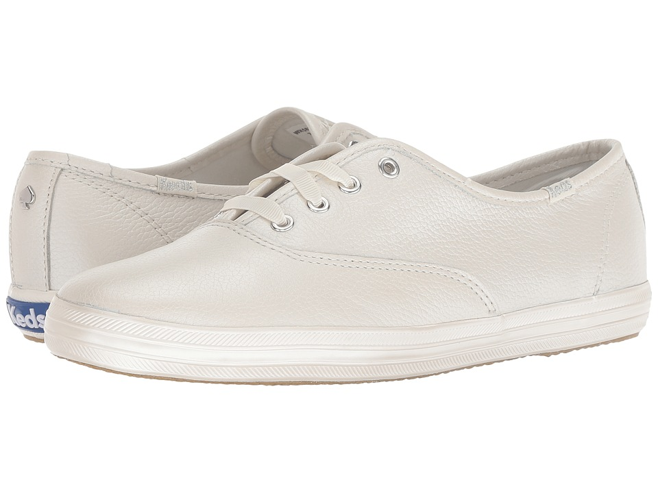 Keds x kate spade new york Bridal Champion Pearlized Leather (Pearl Tumbled Metallic Leather) Women's Shoes