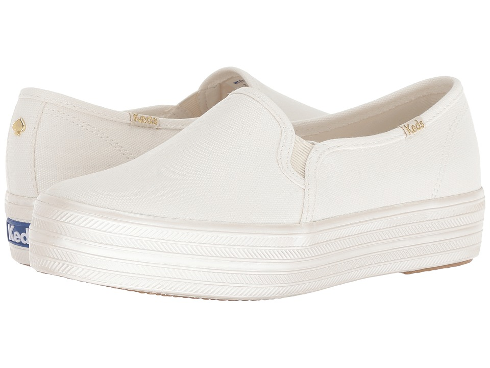Keds x kate spade new york Bridal Triple Decker Pearlized Foxing (Pristine Metallic Canvas) Women's Shoes