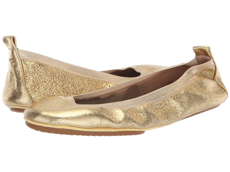 Yosi Samra Samara (Gold Textured Leather) Flats
