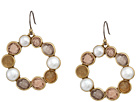Lucky Brand Druzy Circle Drop Earrings