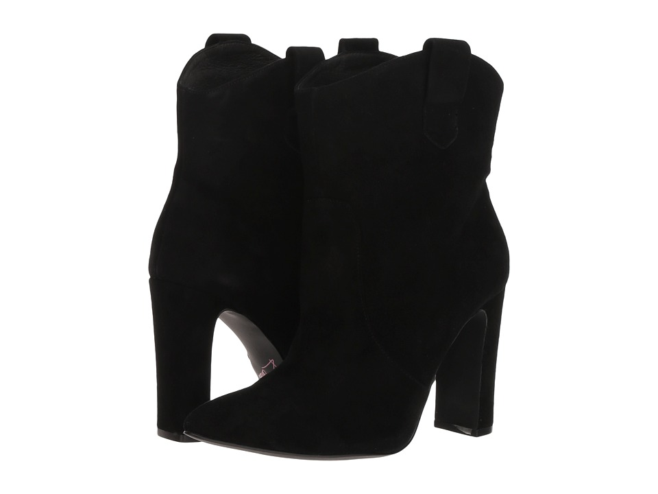 Kristin Cavallari Karly (Black Kid Suede) Women's Pull-on Boots