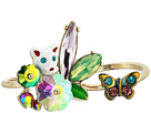 Betsey Johnson Betsey Johnson Colorful Stone and Cat Cluster Ring, Set of 2