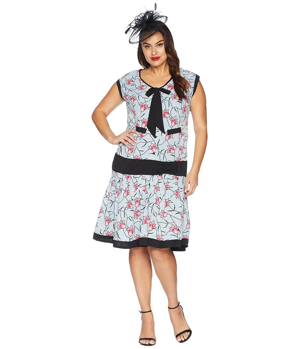 1920 plus size drop waist dress