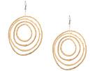 Kenneth Jay Lane Light Wood 4 Graduated Circle Pierced Earrings