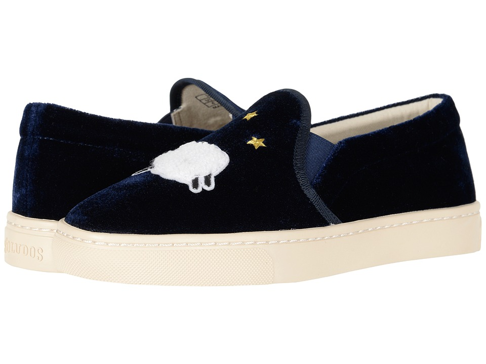 Soludos Velvet Sheep Sneaker (Midnight Blue) Women's Shoes