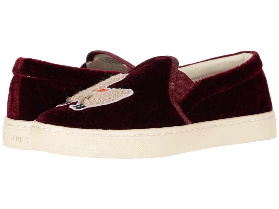 Soludos Velvet Llama Sneaker (Sangria) Women's Shoes