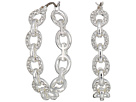 LAUREN Ralph Lauren Crystal Pave Link Hoop Earrings