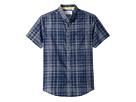 Original Penguin Short Sleeve Linen Plaid Shirt