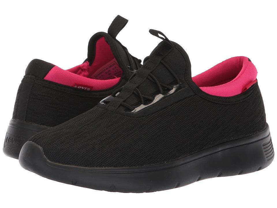 Levi's Shoes Sunset Fly (Black Mono/Fuchsia) Women's Shoes