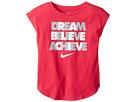 Nike Kids Dream Believe Achieve Short Sleeve Tee (Little Kids)
