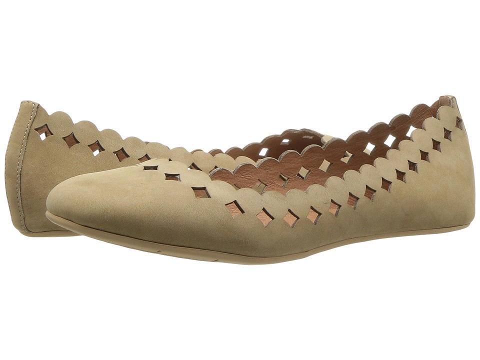 Sudini Simmi (Taupe Kid Suede) Women's Dress Flat Shoes