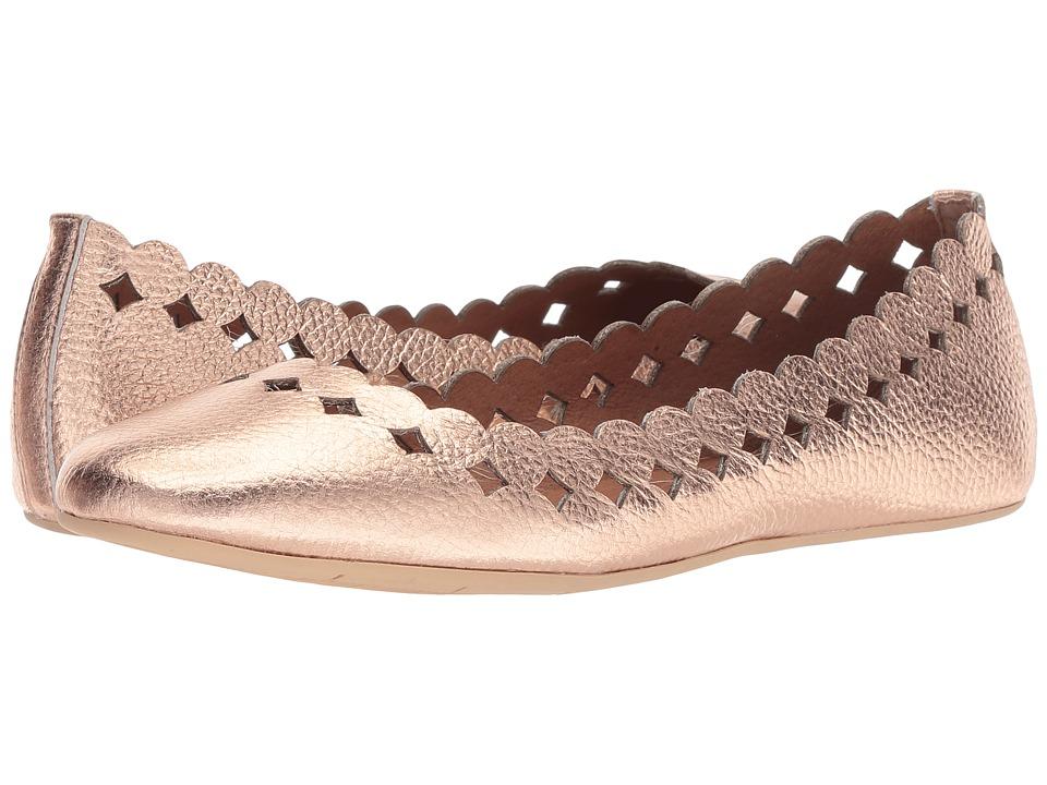 Sudini Simmi (Rose Gold Metallic) Women's Dress Flat Shoes