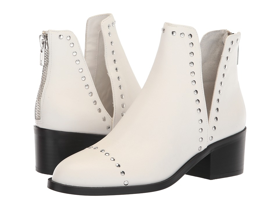Steve Madden Conspire Bootie (White Leather) Slip-On Shoes