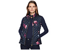 Joules Brindly Printed Chevron Quilted Vest