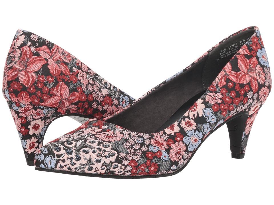 Seychelles Karat (Black Floral Fabric) Women's Shoes