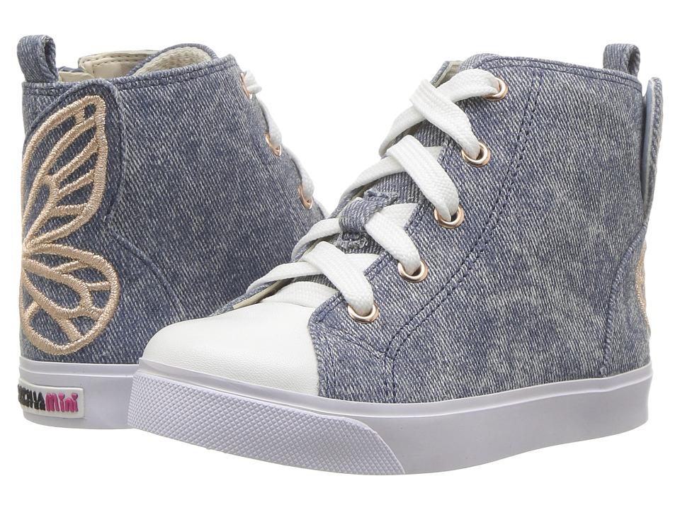 Sophia Webster Bibi High Top (Infant/Toddler/Little Kid/Big Kid) (Blue Denim/Rose Gold) Girl's Shoes