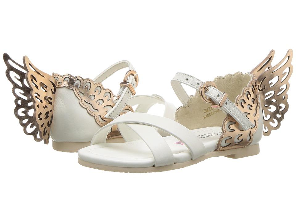 Sophia Webster Evangeline Sandal (Infant/Toddler/Little Kid/Big Kid) (White/Rose Gold) Girls Shoes
